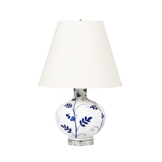 "24""h Blue Floral Table Lamp LGT012386"