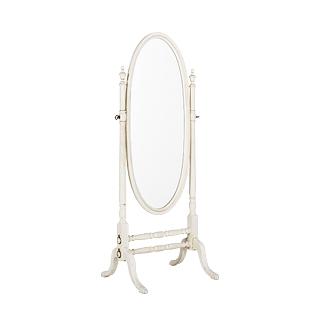 "27""w x 66""h Ivory Standing Mirror MIR001757"
