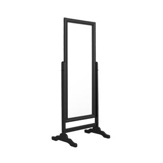 "26.25""w x 66""h Black Cheval Standing Mirror MIR009901"