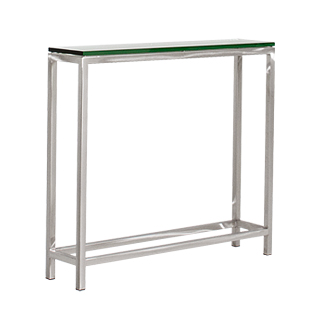 "36""w x 8""d Brushed Aluminum Console Table TBL013432"