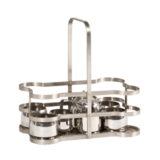 "13.5""h Stainless Steel Tea Set ACC001039"
