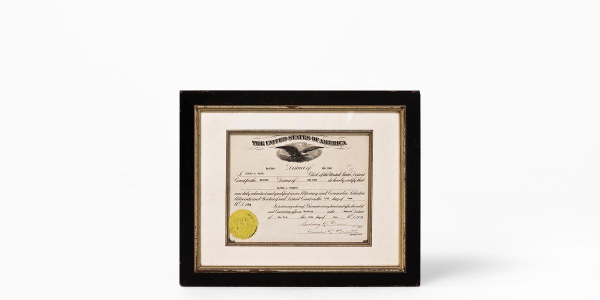 """16.5""""w x 13.5""""h Certificate ART001825"""