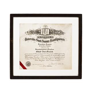"""23.5""""w x 21.5""""h Certificate ART001828"""