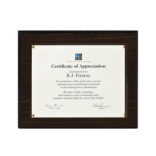 """14""""w x 11.5""""h Certificate ART005699"""