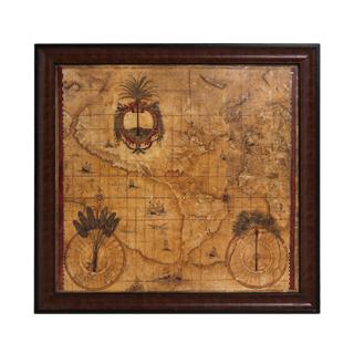 "42""w x 40""h Map Art ART007863"