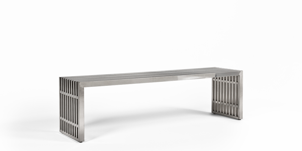 "60""w x 15""d Stainless Steel Bench BEN013487"
