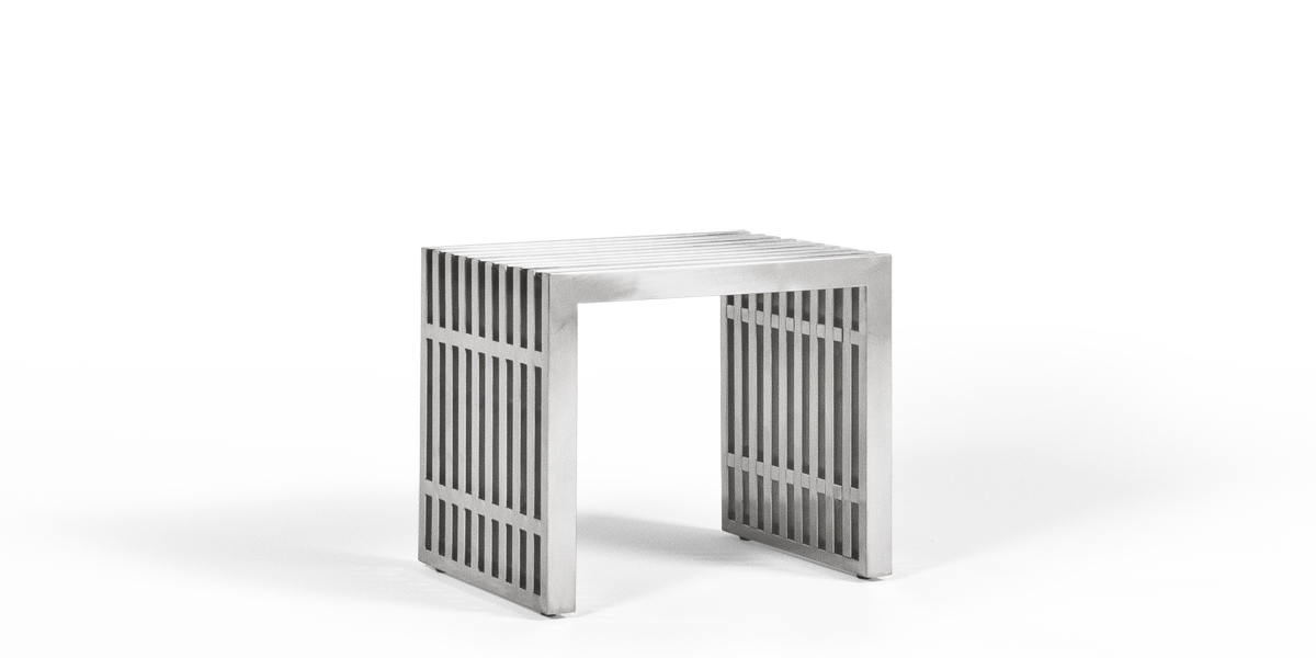 "19.5""w x 15""d Stainless Steel Side Table / Bench BEN013488"