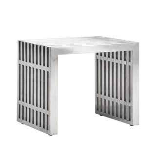 "19.5""w x 15""d Stainless Steal Side Table / Bench BEN013488"