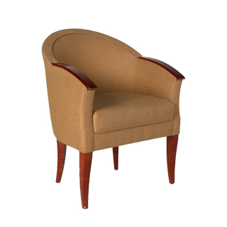Tan Fabric Club Chair CHR008173