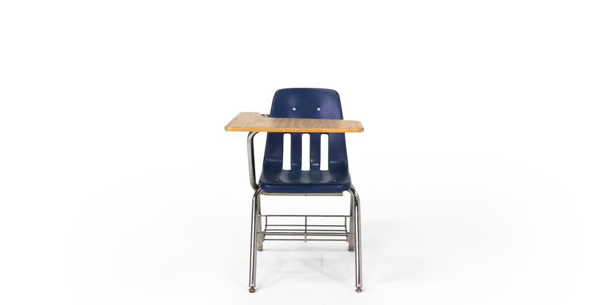 Navy Blue Tablet Arm Desk CHR008647