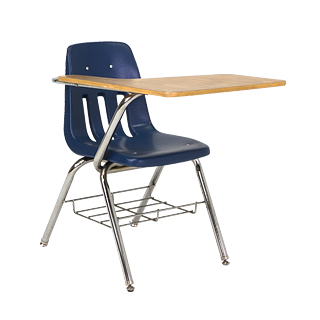 Navy Blue Tablet Arm Desk CHR008647