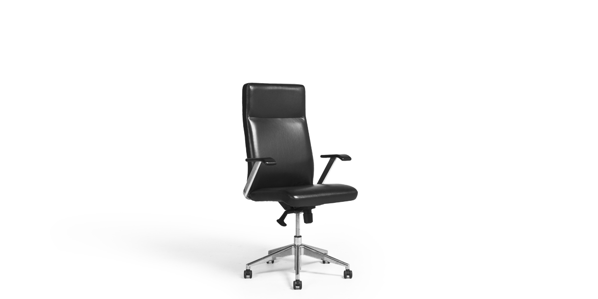 Black Leather Executive Hi-Back Office Chair CHR012006
