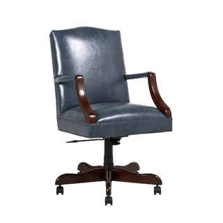 Blue Vinyl Mid-Back Office Chair CHR013453