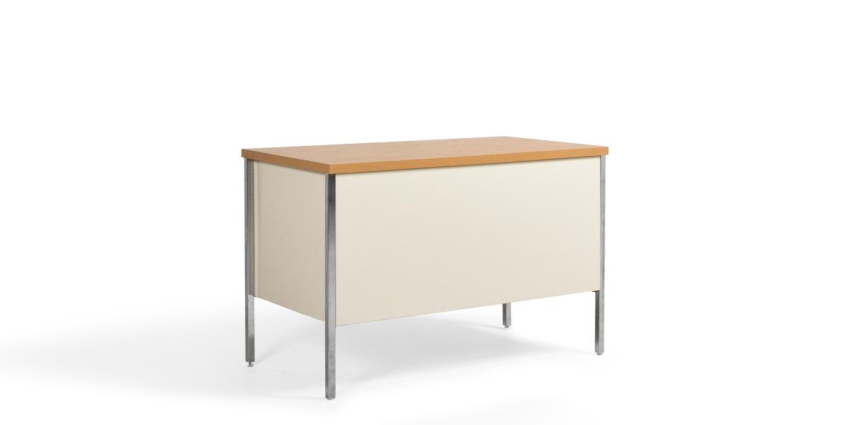 """45.25""""w x 24""""d Putty Metal Desk DSK013381"""