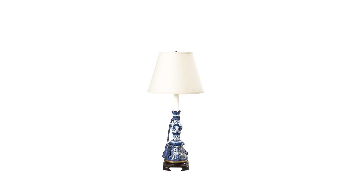 """28.5""""h Blue Porcelain Table Lamp LGT001405"""