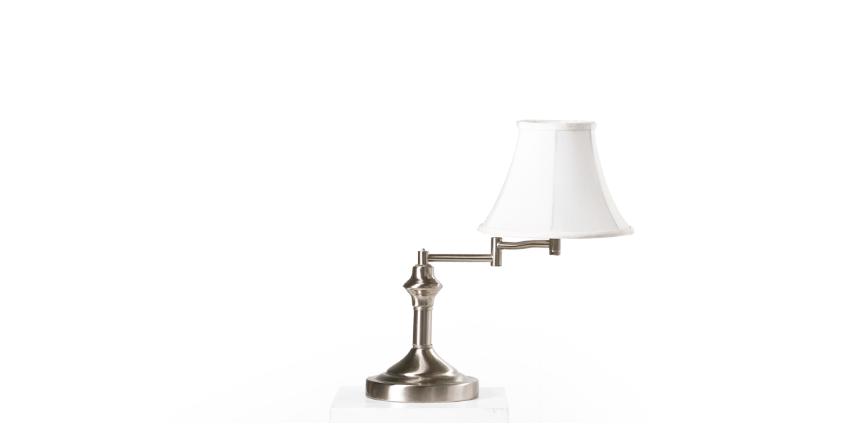 "15""h Brushed Chrome Table Lamp LGT008029"