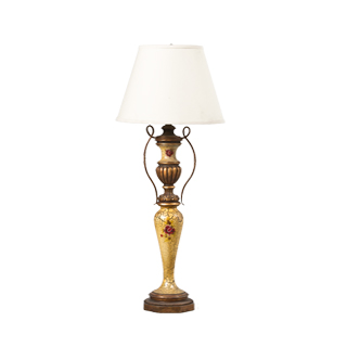"38""h Gold Crackle Table Lamp LGT009976"