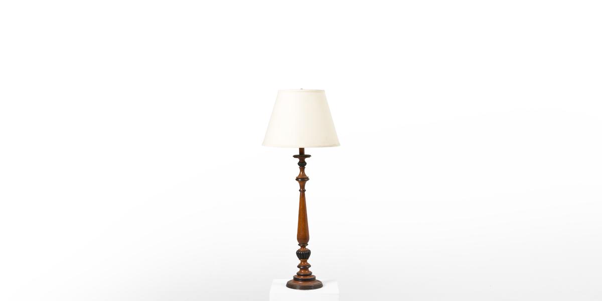"41""h Cherry Table Lamp LGT009979"