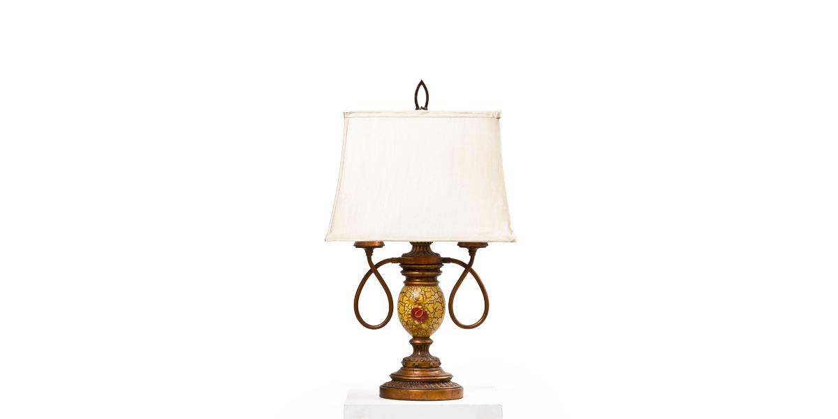 "26""h Copper Crackle Table Lamp LGT009981"