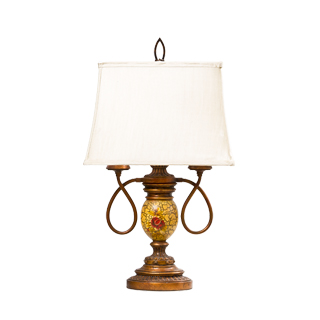 "26""h Copper Crackle Table Lamp LGT009981"