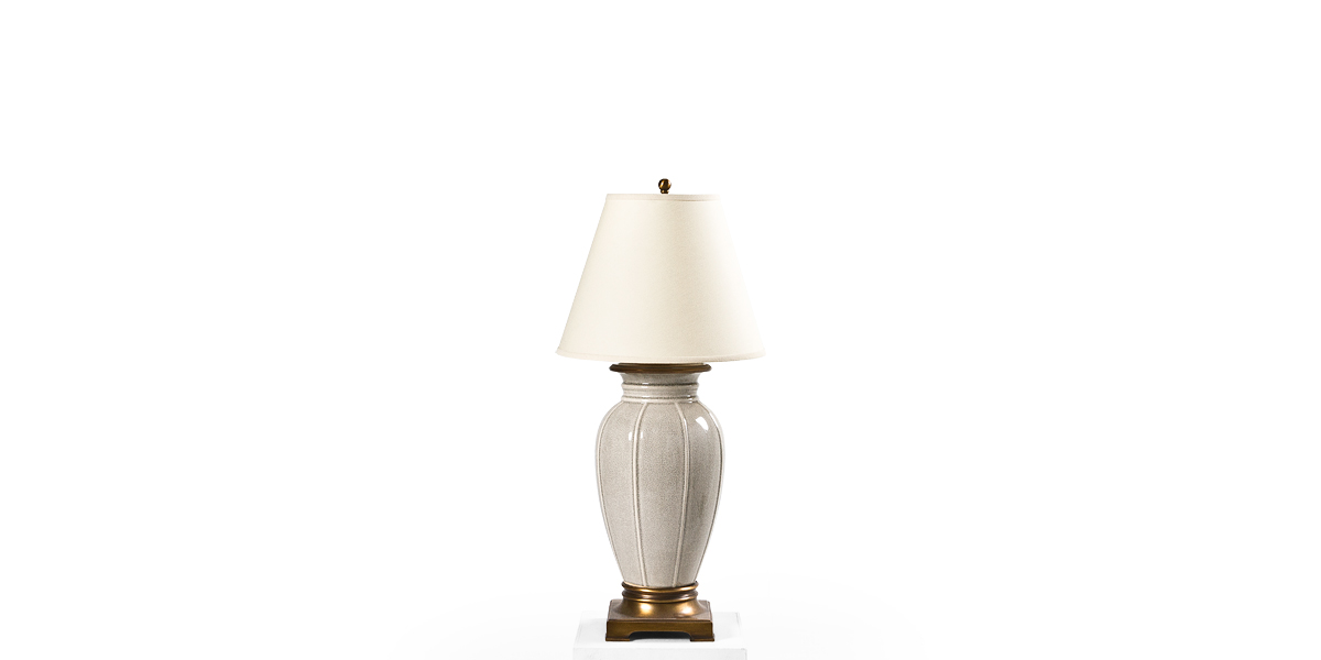 """32""""h Grey Crackle Table Lamp LGT010937"""
