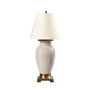 "32""h Grey Crackle Table Lamp LGT010937"