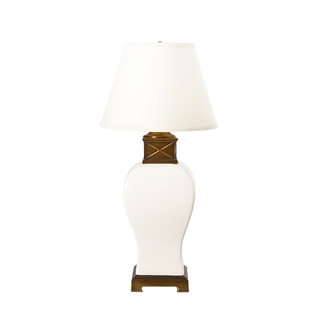 "30""h Ivory Crackle Ceramic Table Lamp LGT010941"