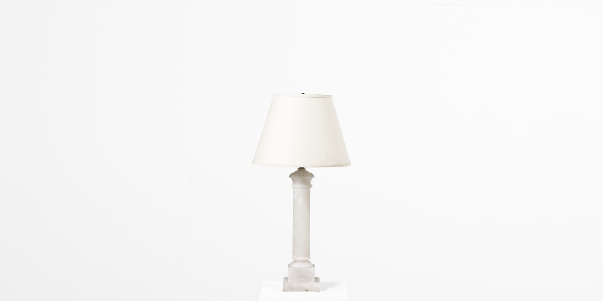 "29""h Ivory Alabaster Table Lamp LGT011086"