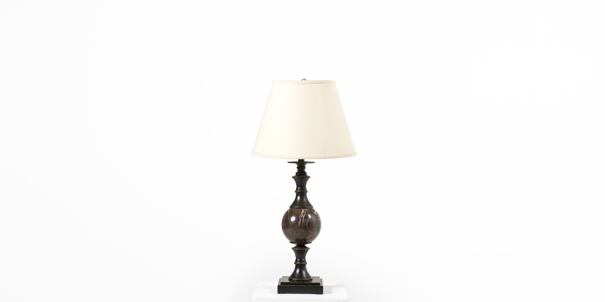 "28""h Black Metal Table Lamp LGT012380"
