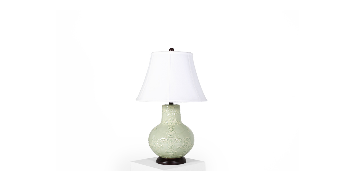 "25""h Mint Green Glass Table Lamp LGT012382"