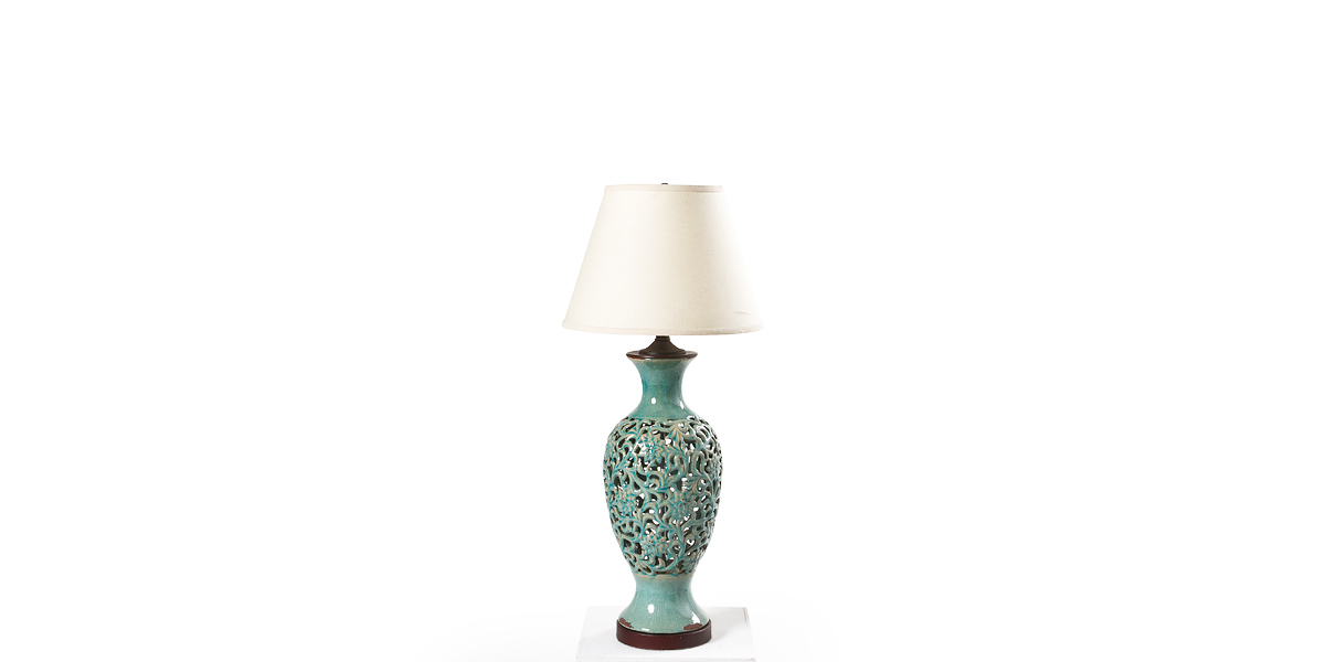 "34""h Turquoise Ceramic Table Lamp LGT012525"