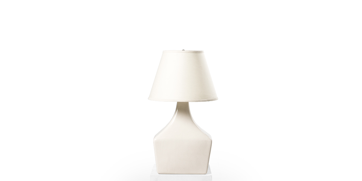 "25""h Ivory Ceramic Table Lamp LGT012528"