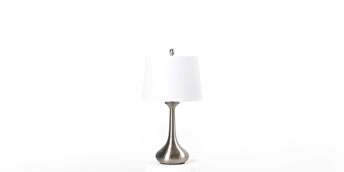 "26""h Brushed Stainless Steel Table Lamp LGT013421"