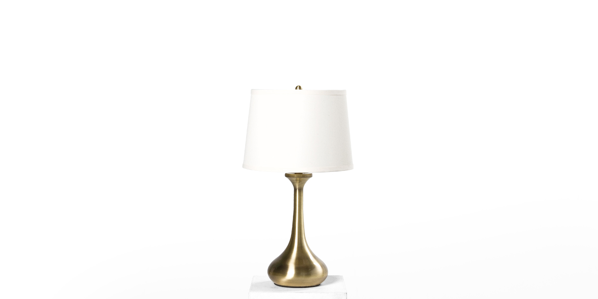"26""h Brushed Brass Table Lamp LGT013422"