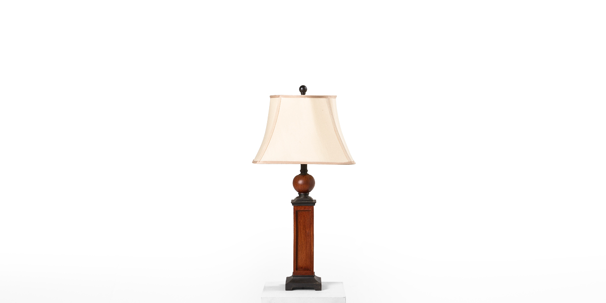 "30.5""h Medium Oak Table Lamp LGT013424"