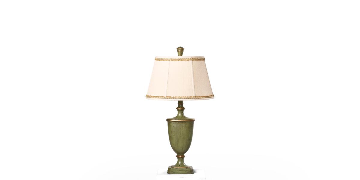 "32""h Antique Sage Green Table Lamp LGT013425"
