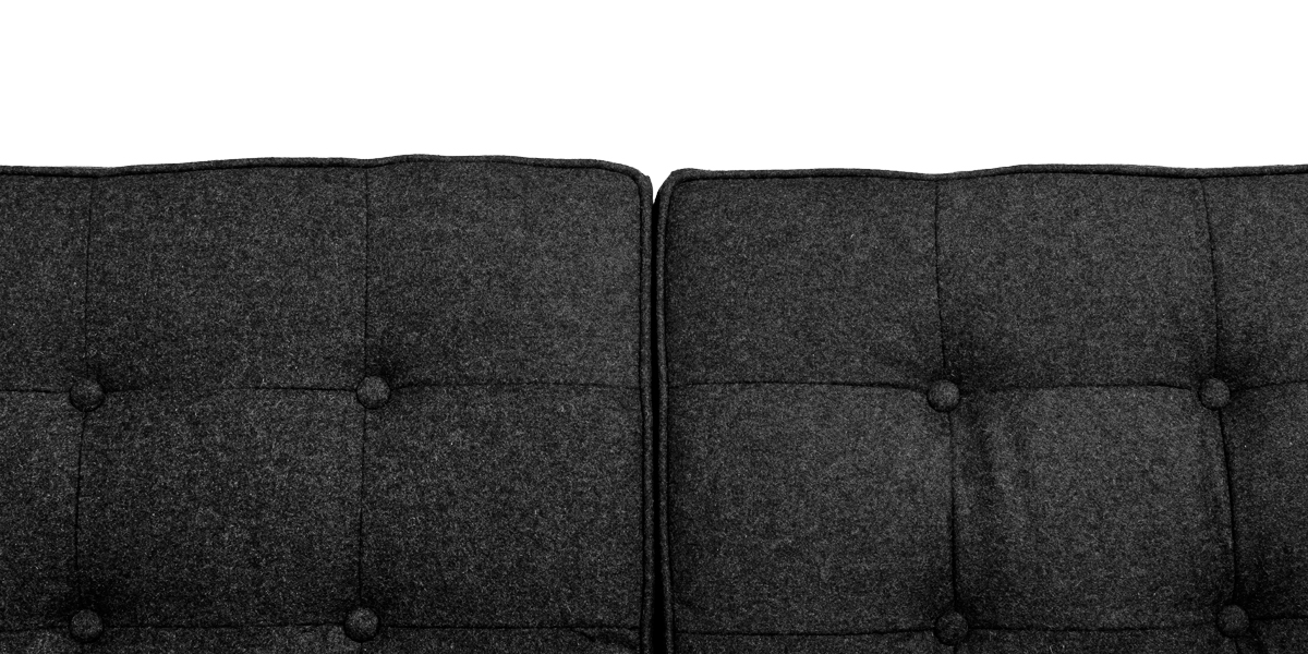 "62.5""w x 30""d Dark Grey Wool Loveseat LVS013418"