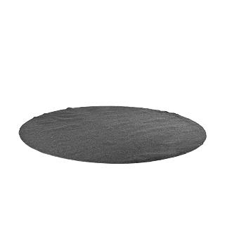 12' Dark Grey Round Area Rug MIS009859