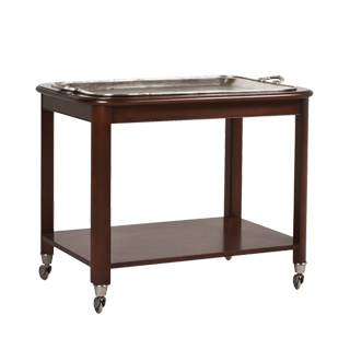 "36.5""w x 25""d Dark Mahogany Serving Cart MIS013415"