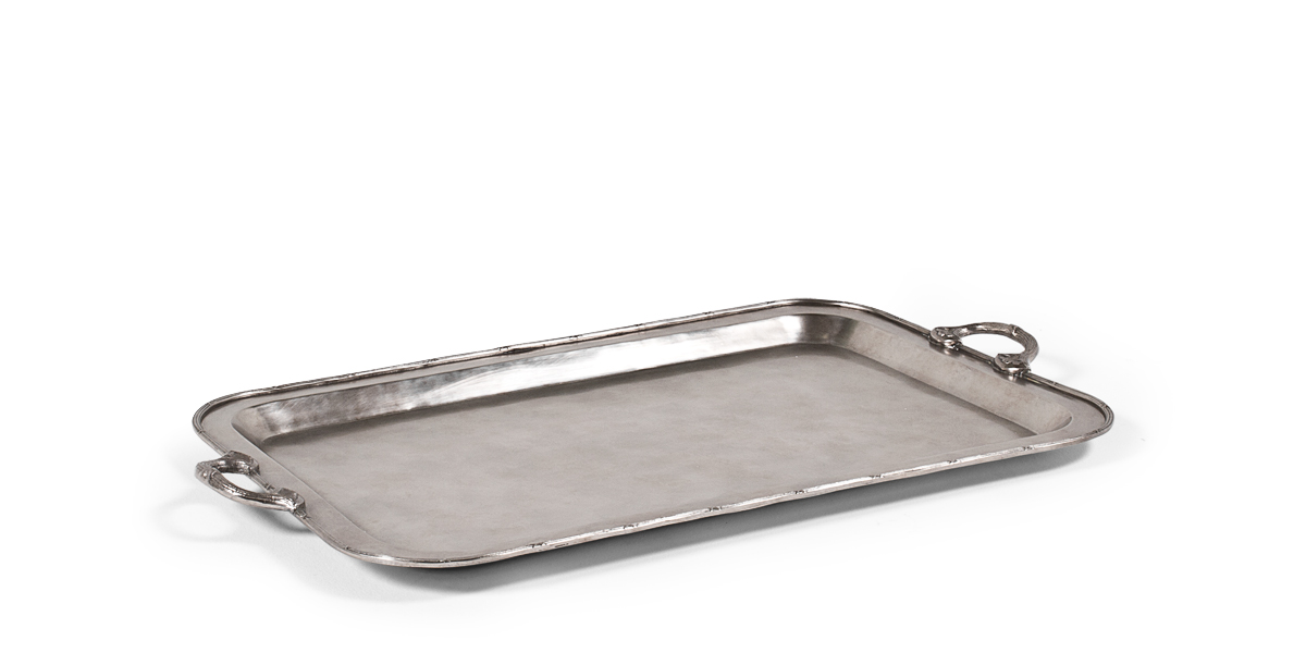 "36.5""w x 25""d Antique Silver Tray MIS013416"