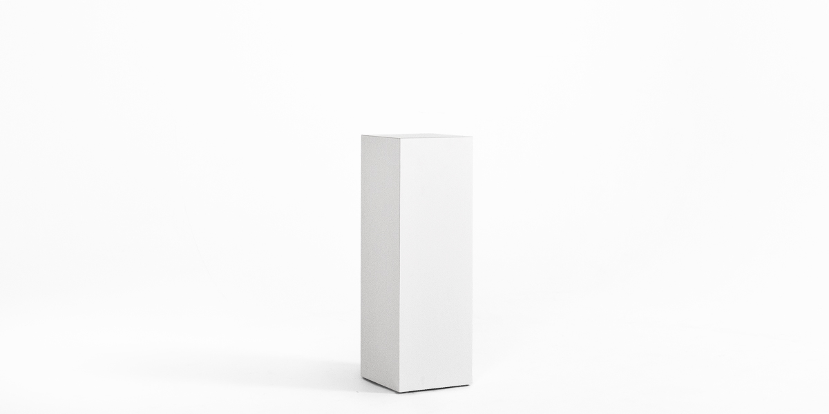 "12""w x 36""h White Laminate Pedestal PED013269"