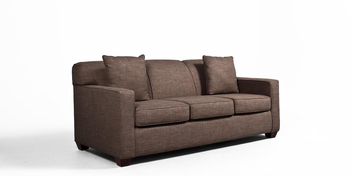 "79""w x 35""d Stone Brown Sofa SOF012550"