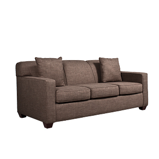 "79""w x 35""d Stone Brown Sofa SOF012550"