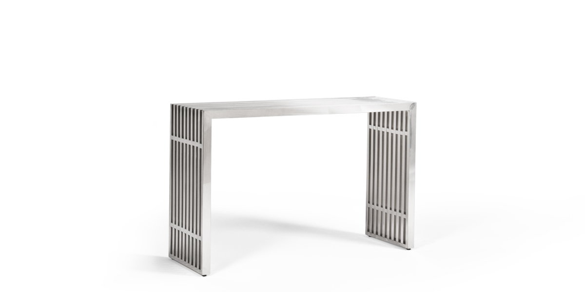 "46.5""w x 15""d Stainless Steel Console Table TBL013499"