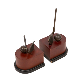 "10""h Bronze Bookends ACC001271"
