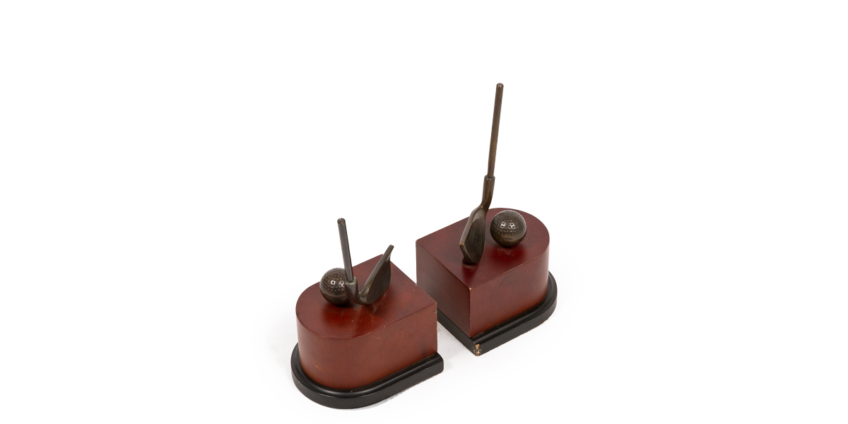 """10""""h Bronze Bookends ACC001271"""