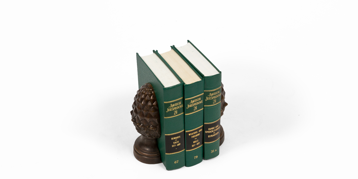 "9""h Bronze Bookends ACC003669"