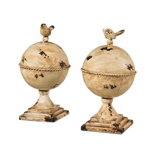 """11""""h Worn Ivory Globe ACC013147"""