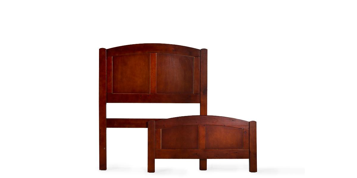 """41""""w x 84.50""""d Mahogany Twin Bed BED012628"""