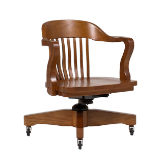 Medium Oak Mid-Back Office Chair CHR013411